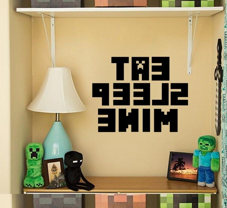 Recent Minecraft 3D Wall Art Inside 3D Walls Minecraft Wall Stickers Steve Decorative Wall Decals (View 15 of 15)