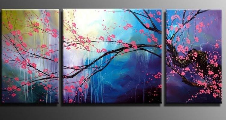 Recent Modern Abstract Art Paintingsmodern Abstract Wall Art Cherry Blossom Regarding Cherry Blossom Oil Painting Modern Abstract Wall Art (View 15 of 15)