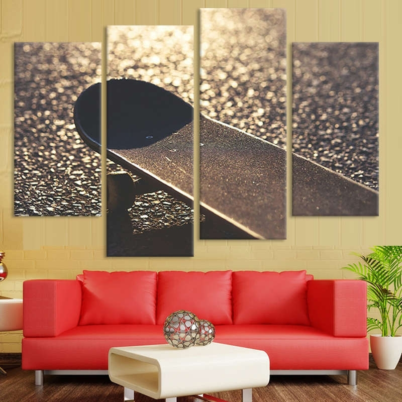 Recent Multiple Panel Wall Art With Skateboard Wall Art Multi Panel Canvas – Mighty Paintings (View 12 of 15)