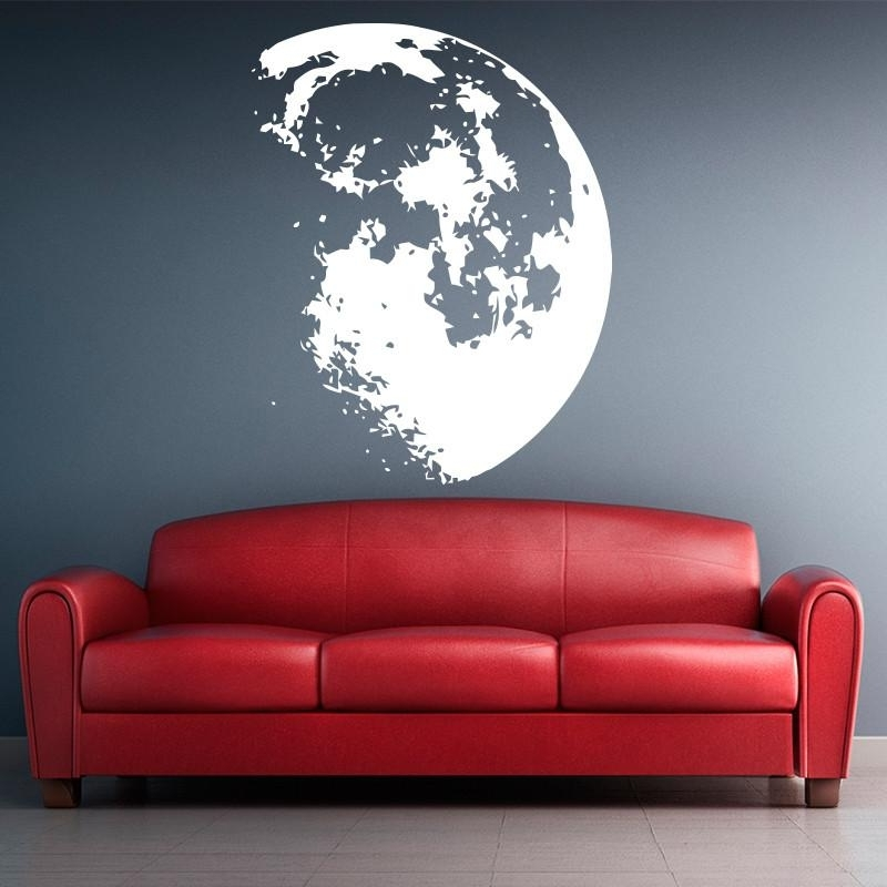 Recent New Design Outer Space Moon Wall Sticker Home Decor Modern Vinyl Within Modern Vinyl Wall Art (View 12 of 15)