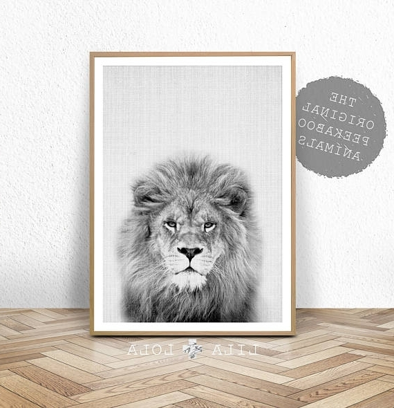 Recent Nursery Animal Print Lion Wall Art Kids Room Poster Il 570Xn Regarding Animal Wall Art (View 13 of 15)