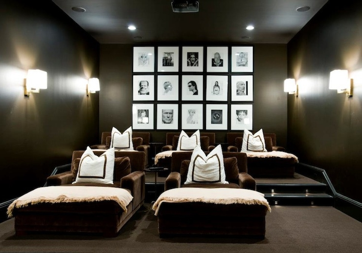 Recent Photo Walls – Contemporary – Media Room – Melanie Turner Interiors In Media Room Wall Art (View 4 of 15)