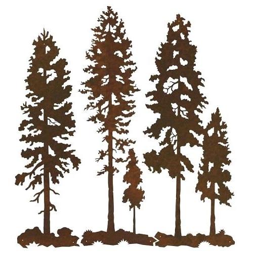 Recent Pine Tree Metal Wall Art Regarding Pine Tree Metal Wall Art Pine Tree Metal Wall Art Pine Tree Forest (View 13 of 15)