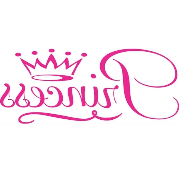 Recent Princess Crown Wall Art Regarding Shop Girls Room 'princess Crown' Vinyl Wall Art Decal – On Sale (View 14 of 15)
