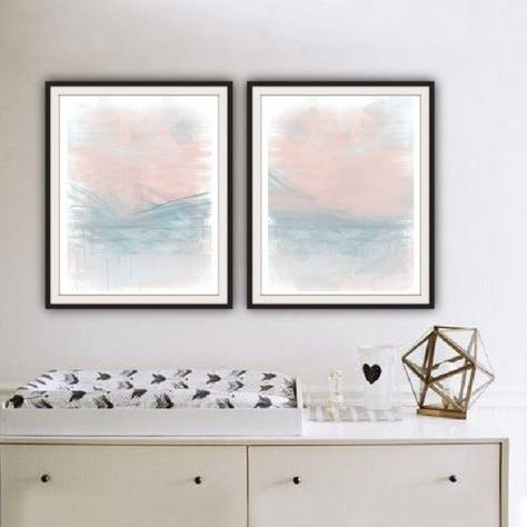 Recent Printable Wall Art Set Of 2 Prints Abstract Wall Art Printable In Printable Abstract Wall Art (View 13 of 15)