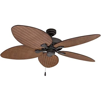 Recent Prominence Home 80013 01 Palm Island Tropical Ceiling Fan, Palm Leaf Within Outdoor Ceiling Fans With Leaf Blades (View 2 of 15)