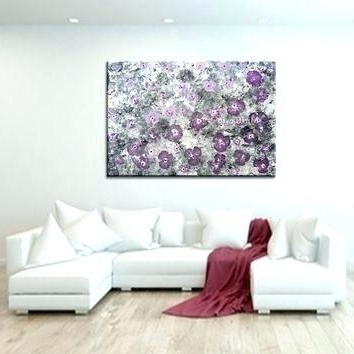 Recent Purple And Grey Abstract Wall Art Pertaining To Gray And Purple Painted Walls Purple Canvas Wall Art Abstract Canvas (View 13 of 15)