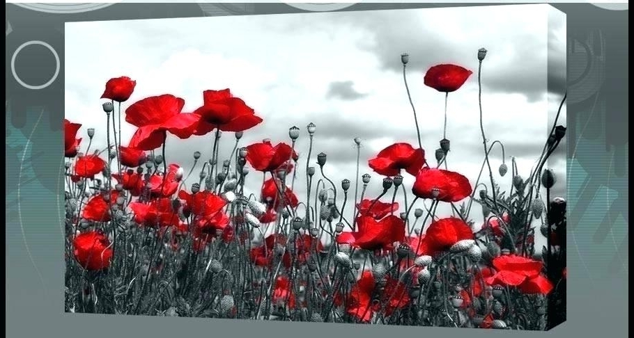 Recent Red Poppy Canvas Wall Art Regarding Red Poppy Wall Art Wall Poppy Canvas Wall Art Watercolor Large Red (View 6 of 15)