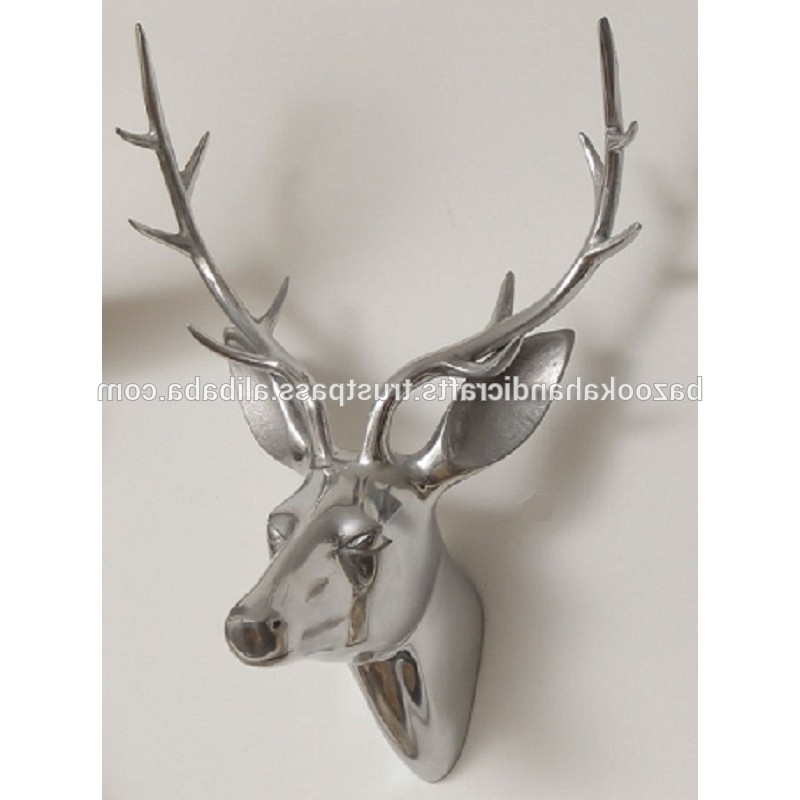 Recent Stag Head Wall Art Inside Aluminium Stag Head For Wall Decor,home Decoration Stag Head – Buy (View 5 of 15)
