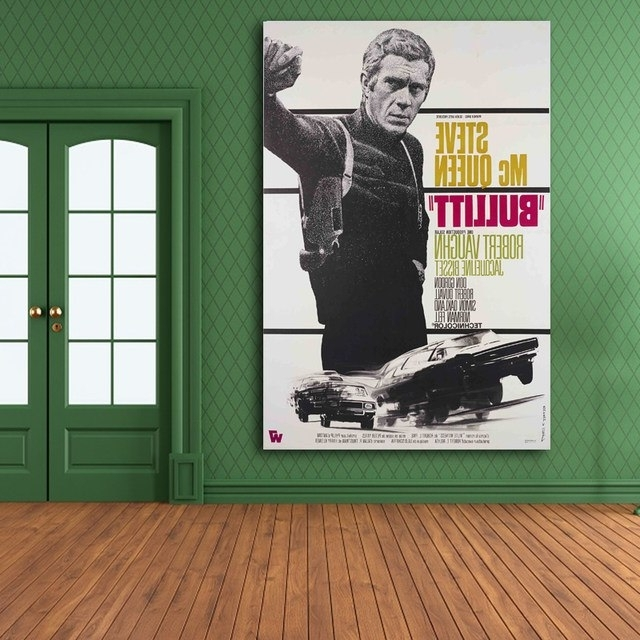 Recent Steve Mcqueen Wall Art With Online Shop Wall Art Poster Bullitt,steve Mcqueen,canvas Print Wall (View 10 of 15)