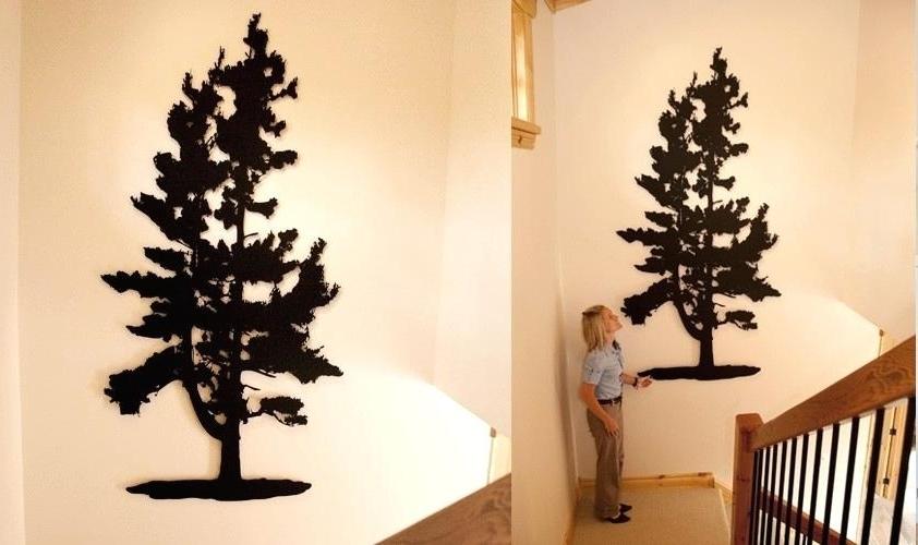 Recent Tree Wall Art Metal Metal Tree Art Wall Decor Alluring Wall Art With Regard To Pine Tree Wall Art (View 2 of 15)