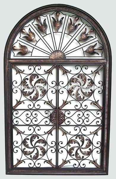 Recent Tuscan Wrought Iron Wall Art Pertaining To Tuscan Wrought Iron Wall Art Black Wrought Iron Wall Decor Buy Wall (View 6 of 15)