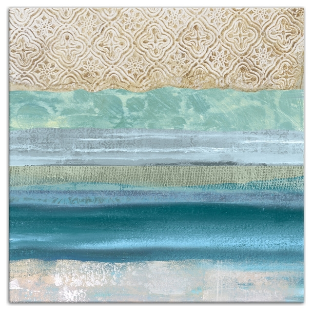 "Recent Underwater Sea Blue Abstract"" Canvas Wall Art, 36""x36"" – Beach Style Regarding Abstract Beach Wall Art (View 12 of 15)"