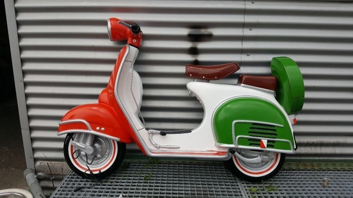 Recent Vespa 3D Wall Art Pertaining To Beautiful Wall Decoration Of A Vespa Scooter – Catawiki (View 10 of 15)