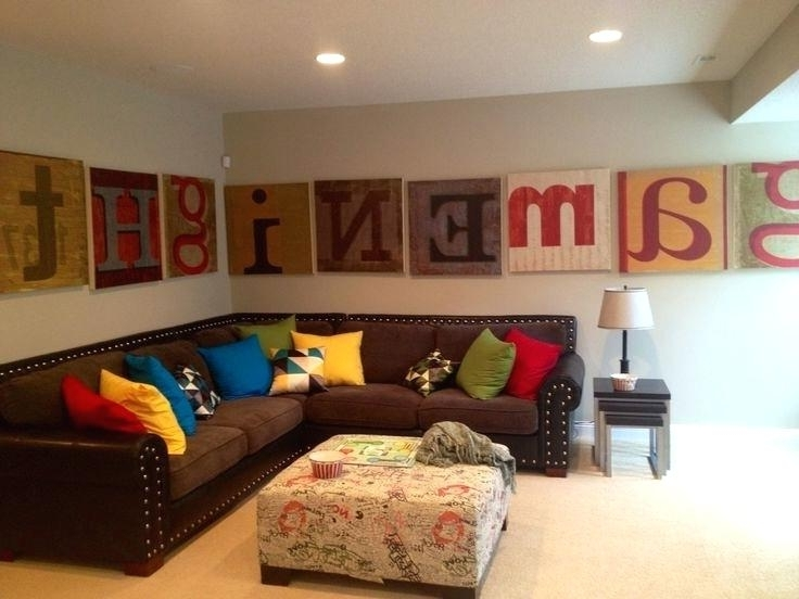 Recent Wall Art Decor For Family Room Within Family Room Wall Decorations Remarkable Fun Living Room Ideas (View 8 of 15)
