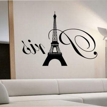 Recent Wall Decal: Beautiful Paris Themed Wall Decals Removable Wall Decals Pertaining To Paris Themed Wall Art (View 14 of 15)