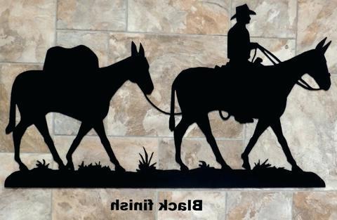 Recent Western Metal Art Silhouettes Pack Mule Metal Wall Art Silhouette Pertaining To Western Metal Wall Art Silhouettes (View 7 of 15)