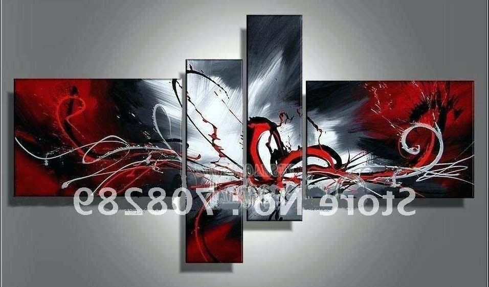 Recent White Canvas Wall Art Black White And Red Canvas Wall Art Elegant Within Black White And Red Wall Art (View 11 of 15)