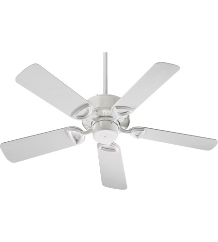 Recent White Outdoor Ceiling Fans Intended For Quorum 143425 6 Estate Patio 42 Inch White Outdoor Ceiling Fan (View 13 of 15)