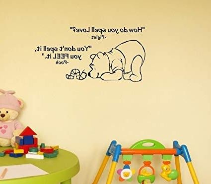 Recent Winnie The Pooh Wall Decor Regarding Amazon: Click Down Winnie The Pooh Wall Decor Decal Sticker (View 10 of 15)