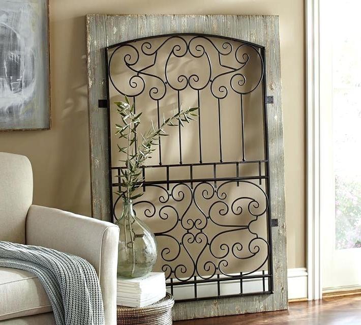 Recent Wrought Iron Metal Wall Art Wrought Iron Gates Wrought Iron Shelves Regarding Iron Gate Wall Art (View 12 of 15)