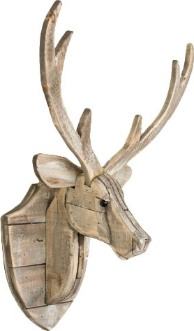 Recycled Wooden Deer Head Hanging Wall Décor & Reviews (View 6 of 15)
