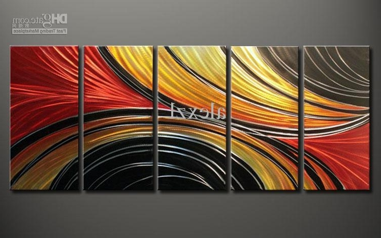 Red And Yellow Wall Art Intended For Most Up To Date Metal Oil Painting,abstract Metal Wall Art Sculpture Painting Red (View 9 of 15)