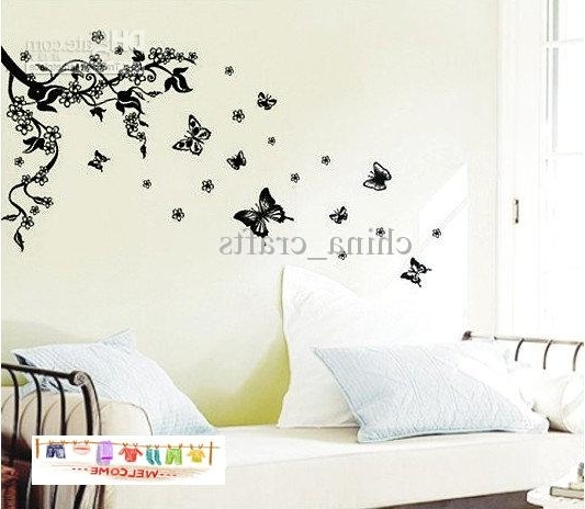 Removable Butterfly Wall Stickers Living Room Wall Stickers Decals Throughout Latest Butterflies Wall Art Stickers (View 3 of 15)