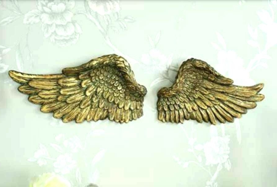 Resin Angel Wings Wall Decor Art Sculpture Plaque Beautiful Sale With Preferred Angel Wings Sculpture Plaque Wall Art (View 3 of 15)
