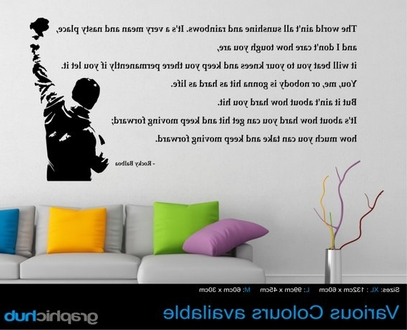 Rocky Balboa Wall Art In Fashionable Rocky Balboa Wall Art Sticker Quote Sunshine And Rainbows (View 8 of 15)