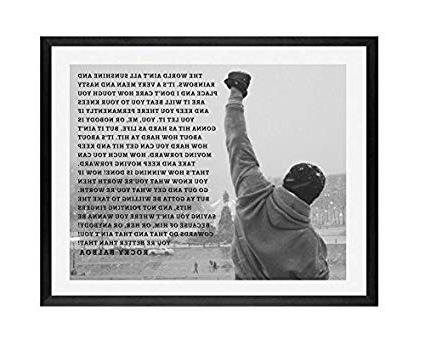 Rocky Balboa Wall Art Intended For Most Current Amazon: Rocky, Framed Wall Art, Rocky Balboa, Framed Art, Rocky (View 4 of 15)