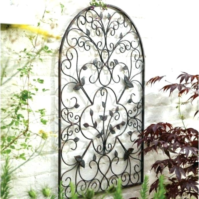 Rod Iron Wall Decorations Metal Wall Art Outdoor Large Size Of For Trendy Wrought Iron Garden Wall Art (View 8 of 15)