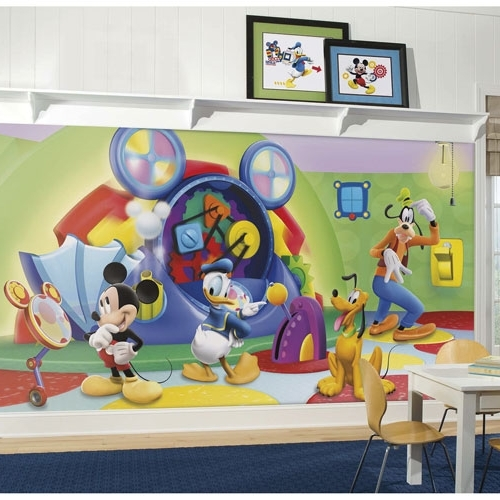 Roommates Mickey Mouse Clubhouse Capers Xl Wallpaper Mural : Nursery Within Famous Mickey Mouse Clubhouse Wall Art (View 6 of 15)
