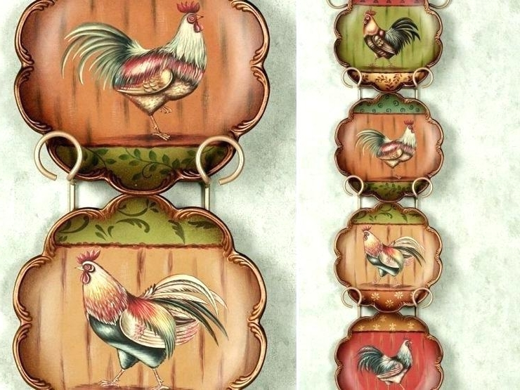 Rooster Wall Decorations Rooster Wall Decor Rooster Wall Art With Well Known Metal Rooster Wall Decor (View 13 of 15)
