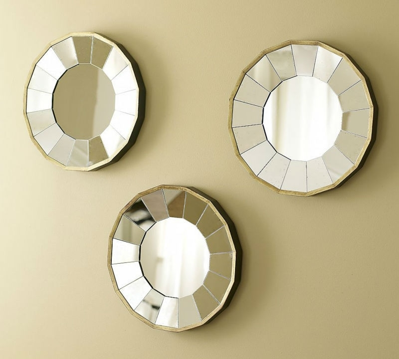 Round Mirror Wall Decor Indoor : Beauty Round Mirror Wall Decor With Most Popular Mirror Circles Wall Art (View 7 of 15)