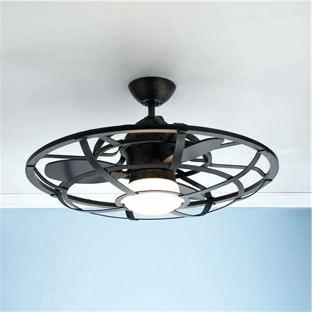 Rustic Flush Mount Ceiling Fan (View 11 of 15)