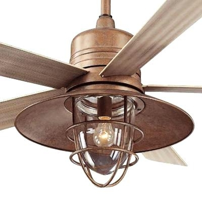 Rustic Outdoor Ceiling Fans Rustic Copper Indoor Outdoor Ceiling Fan Throughout Favorite Copper Outdoor Ceiling Fans (View 13 of 15)