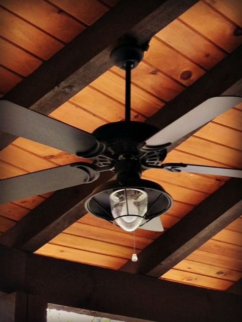 Rustic Outdoor Ceiling Fans With Lights Within Trendy Dan's Ceiling Fans – A Rich And Rustic Ceiling Fan/light Complements (View 15 of 15)
