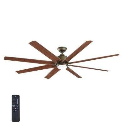 Rustic Outdoor Ceiling Fans With Recent 8 Blades – Rustic – Outdoor – Ceiling Fans – Lighting – The Home Depot (View 3 of 15)