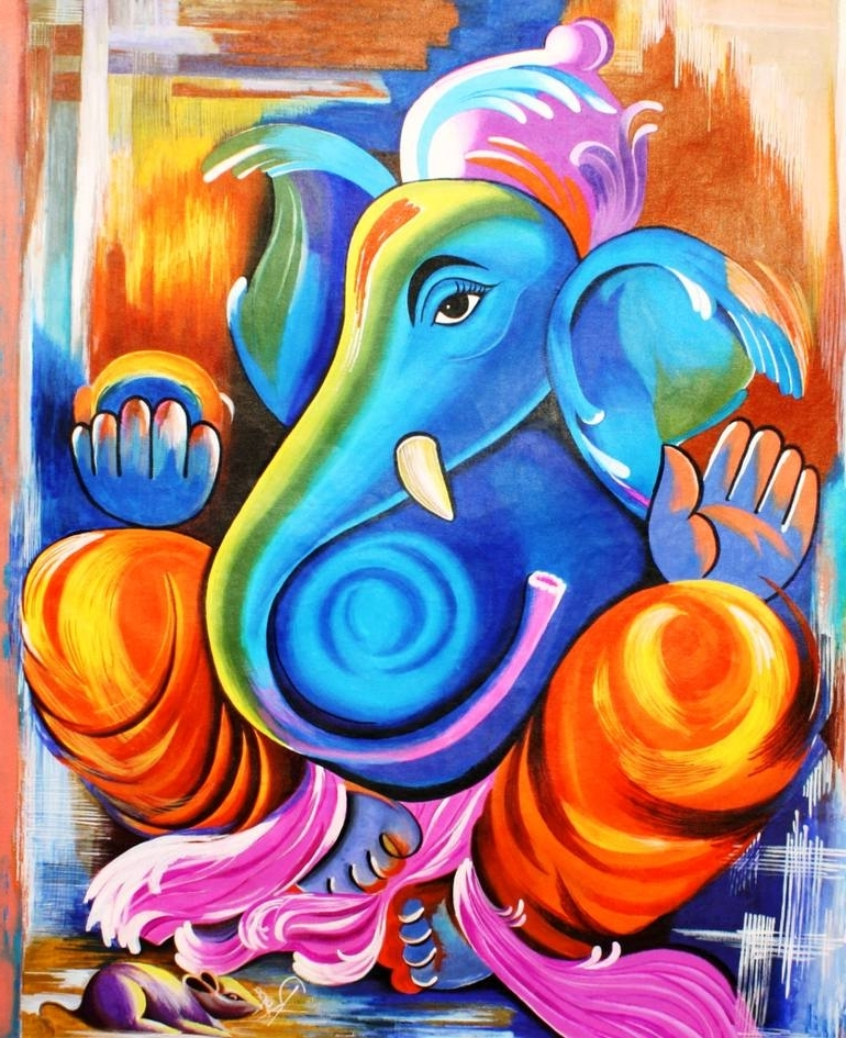 Saatchi Art: Abstract Ganesh Paintingrupa Prakash With Regard To Most Recently Released Abstract Ganesha Wall Art (View 15 of 15)