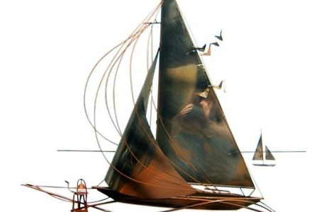 Sailboat Metal Wall Art – Chapmanbfashowcase Regarding Best And Newest Metal Sailboat Wall Art (View 14 of 15)