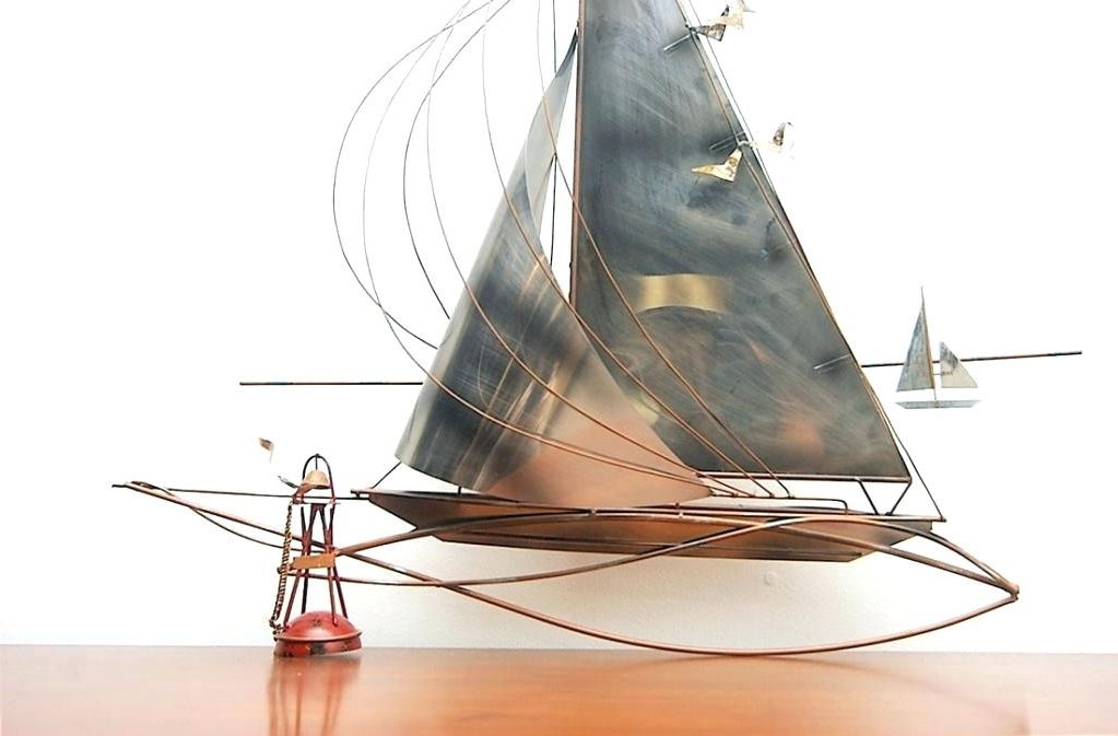 Sailboat Metal Wall Art Nautical Marine Wall Art Sculpture Sailboats For Most Up To Date Sailboat Metal Wall Art (View 4 of 15)