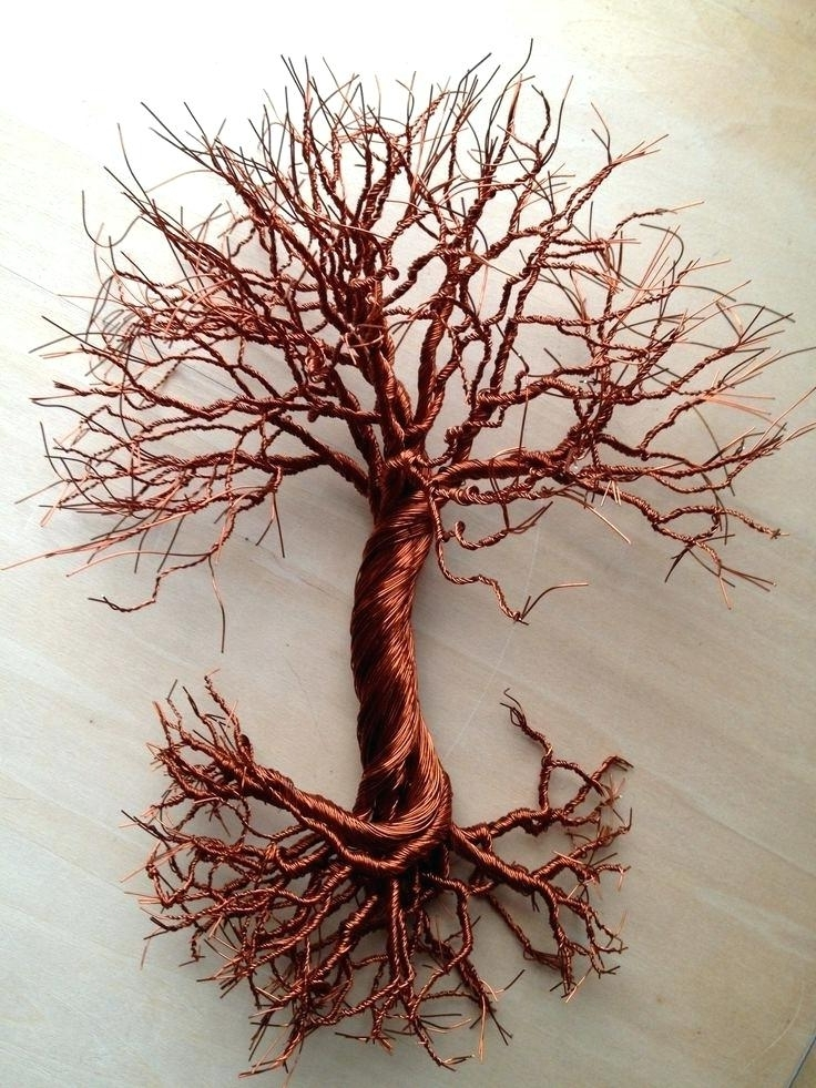 Sale Copper Tree Wall Art Sample Sensational Themes Branches Intended For Newest Tree Wall Art Sculpture (View 8 of 15)
