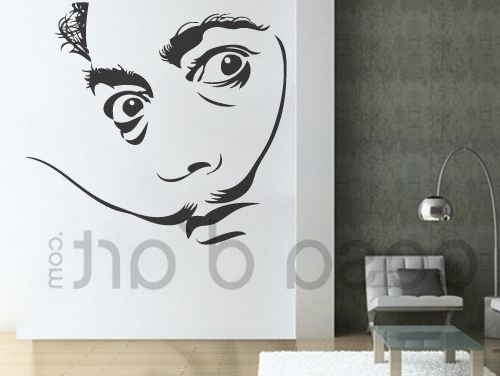 Salvador Dali Wall Art Pertaining To Popular Legends – Salvador Dali – Wall Decals , Home Wallart Decals (View 10 of 15)