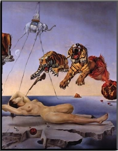 Salvador Dali Wall Art With Most Up To Date 2018 Wall Art Modern,dream Caused Tigers,salvador Dali Painting, Oil (View 13 of 15)