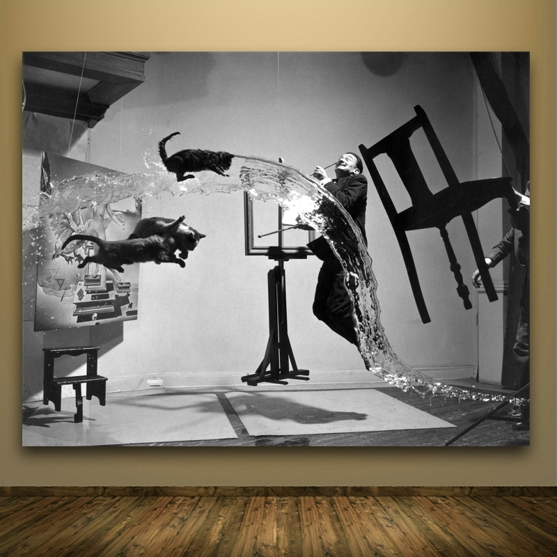 Salvador Dali Wall Art within Latest Modern Pop Art Decorative Pictures Realism Water Animal And People