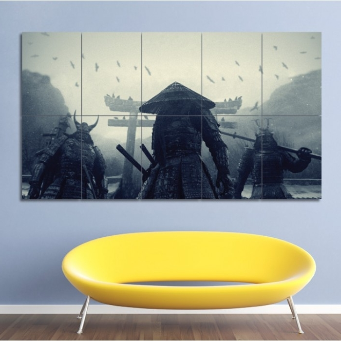 Samurai Wall Art Intended For Widely Used Asian Warriors Samurai Japan Block Giant Wall Art Poster (View 9 of 15)