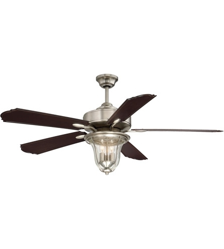 Savoy House 52 135 5Cn Sn Trudy 52 Inch Satin Nickel With Chestnut In Trendy Nickel Outdoor Ceiling Fans (View 14 of 15)