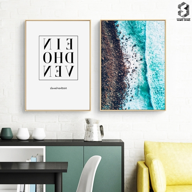 Scandinavia Coastal Wall Art Canvas Poster Print Eindhoven With Regard To Most Popular Coastal Wall Art Canvas (View 3 of 15)