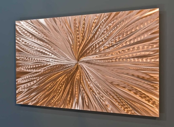 Sculpture Abstract Wall Art Pertaining To Best And Newest Copper Wall Art New Wall Art Copper Wall Art Sculpture Abstract Art (View 14 of 15)